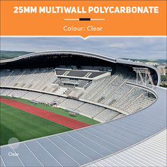 25mm Multiwall Polycarbonate Sheets Clear
