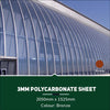 3mm Polycarbonate Sheets Bronze