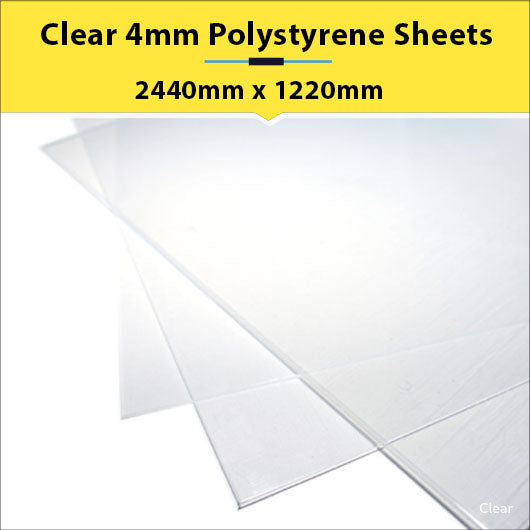 Clear 4mm Polystyrene Sheets