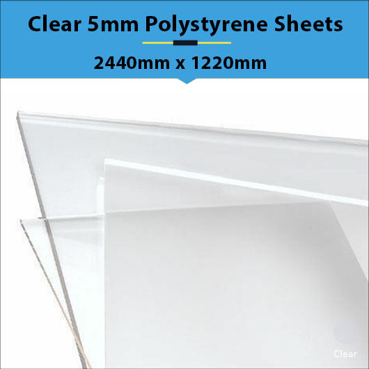 Clear 5mm Polystyrene Sheets