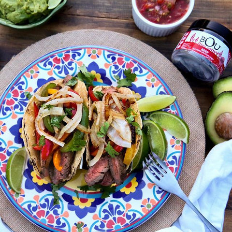 Summer Steak Fajitas by @grillmomma
