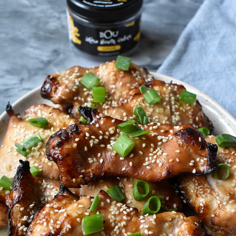 Ginger Sesame Chicken with BOU Miso Cubes