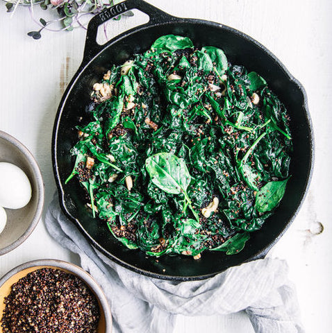 Kale, Quinoa & Mushroom Breakfast Bowl by @laurelstreetkitchen