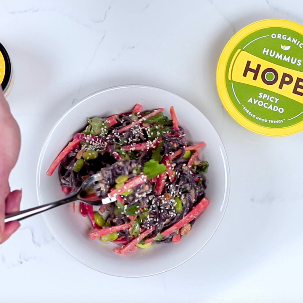 Soba Noodle Salad With Hope Foods Spicy Avocado Hummus