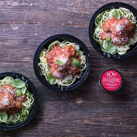 Meal Prep Zucchini Noodles & Turkey Meatballs