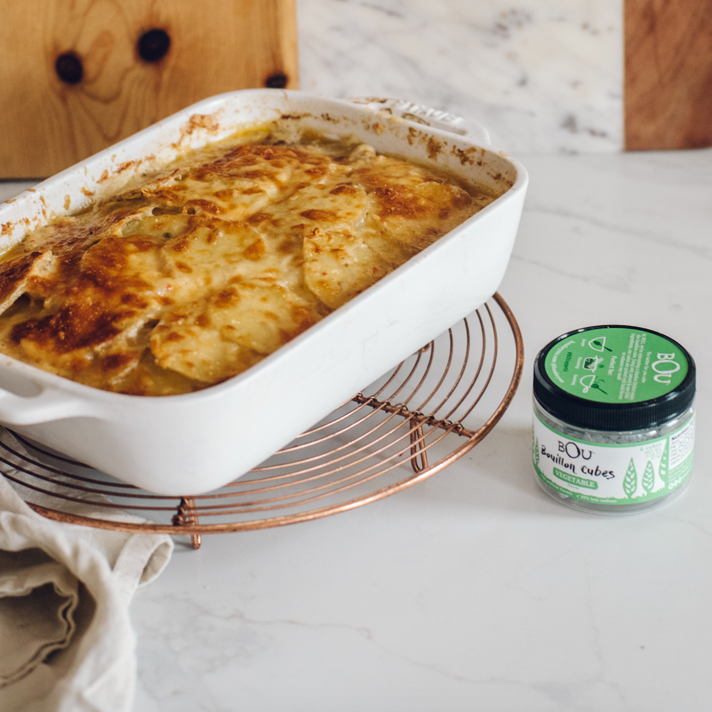 Garlic Cheddar Scalloped Potatoes