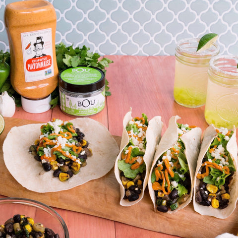 Taco Tuesday: Spicy Margaritas and Black Bean & Veggie Tacos