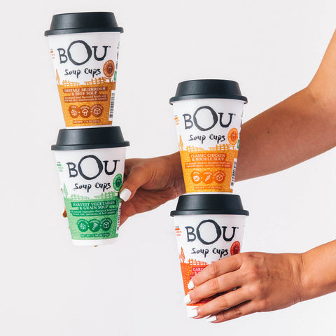 BOU Soup Cups are convenient and delicious