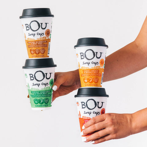 BOU Soup Cups are ready to eat in just minutes