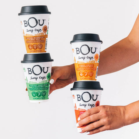 BOU Soup Cups are available in four flavors