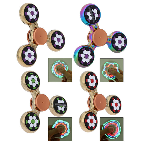 LED Tri Color Soccer Fidget Spinner