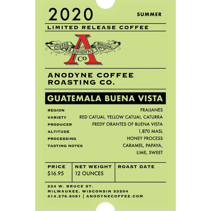 Guatemala Buena Vista<br> Honey Process