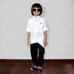 Bad Boys White Modal Kurta salwar set. - mashup boys