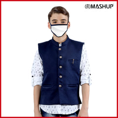 MashUp dapper Nehru jacket and printed kurta shirt. - mashup boys