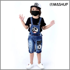 Bad Boys Half Dungaree Set. - mashup boys