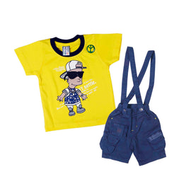 Bad Boys Cool Fella Yellow Dungaree Set - mashup boys
