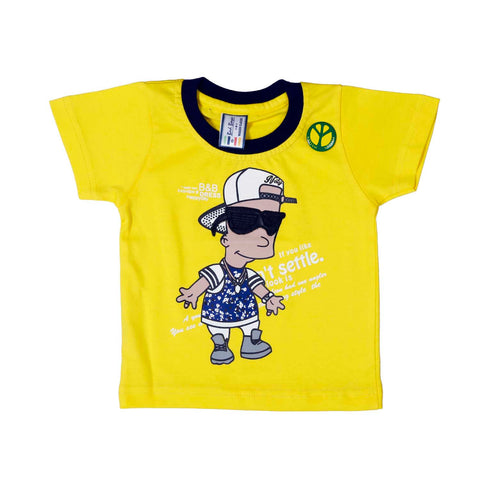 Bad Boys Cool Fella Yellow Dungaree Set - KRAZYLA