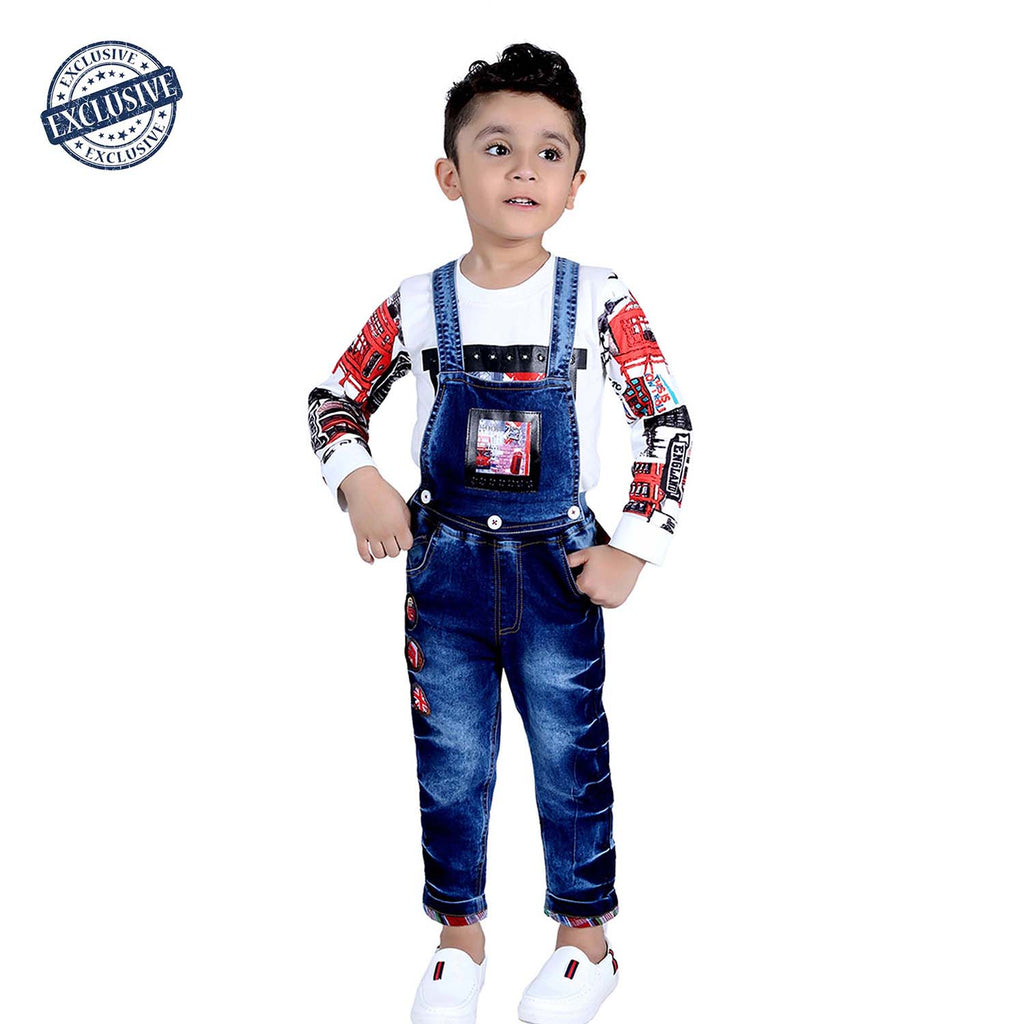 Digital print Detachable dungaree set - mashup boys