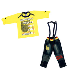 SMILE EMOJI SUSPENDER SET