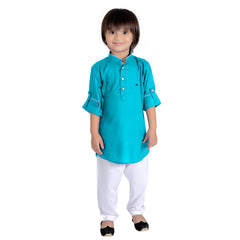 Bad Boys Royal Green Kurta Payjama Set - mashup boys
