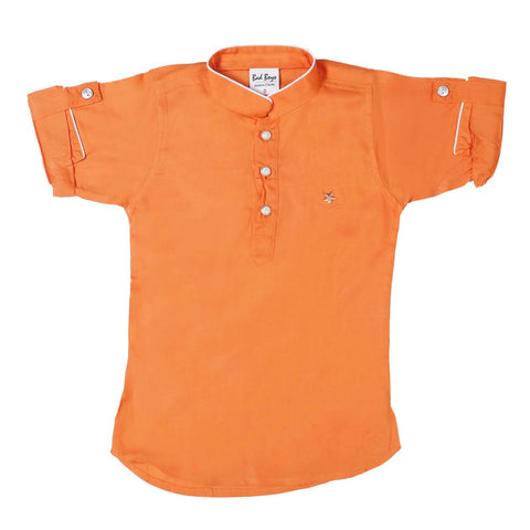 Bad Boys Orange Kurta Payjama Set - KRAZYLA