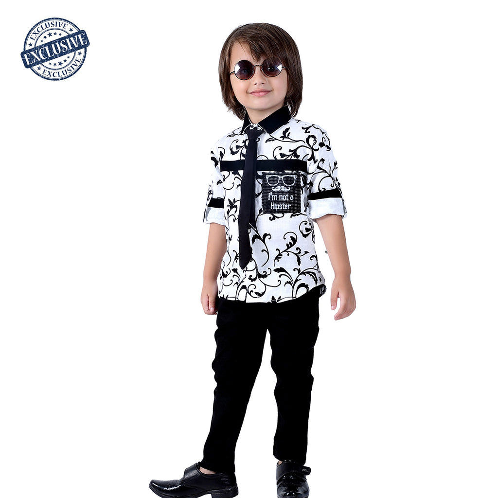 Black and White Party Set with Tie - mashup boys