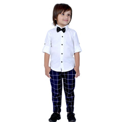 Plaid Party wear outfit with suspenders and bow tie. - mashup boys