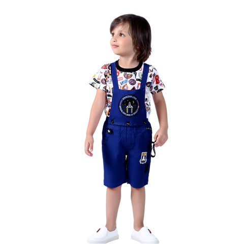 Space Travel Half Dungaree Set - KRAZYLA