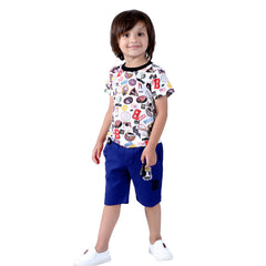 Space Travel Half Dungaree Set - mashup boys