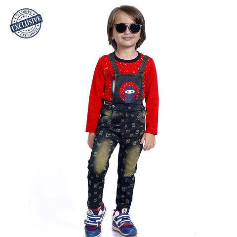 Casual Detachable Dungaree Set - mashup boys