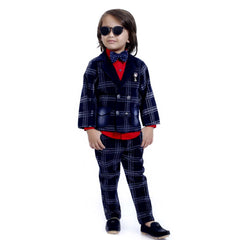 INDIGO PLAID FULL SUIT SET - KRAZYLA