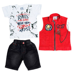 Bad Boys Red half jacket set. - mashup boys