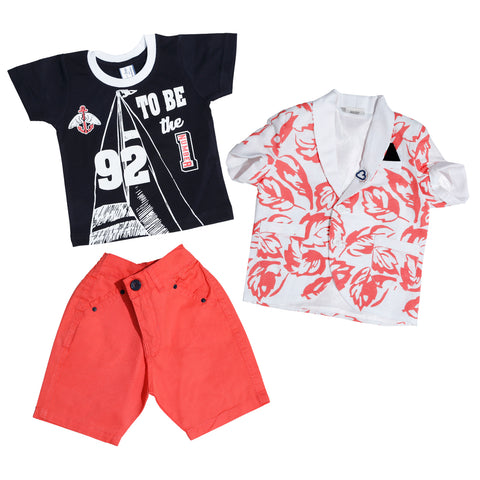 Bad Boys Printed blazer combo set. - mashup boys