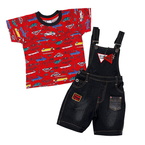 Bad Boys black dungaree set. - mashup boys