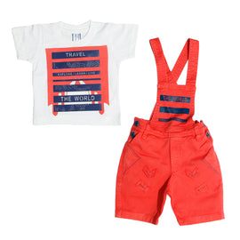 Bad Boys Mustard dungaree combo set. - KRAZYLA
