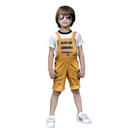 Bad Boys Mustard dungaree combo set. - MASHUP