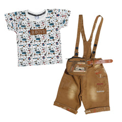 Bad Boys Combo Dungaree set. - mashup boys