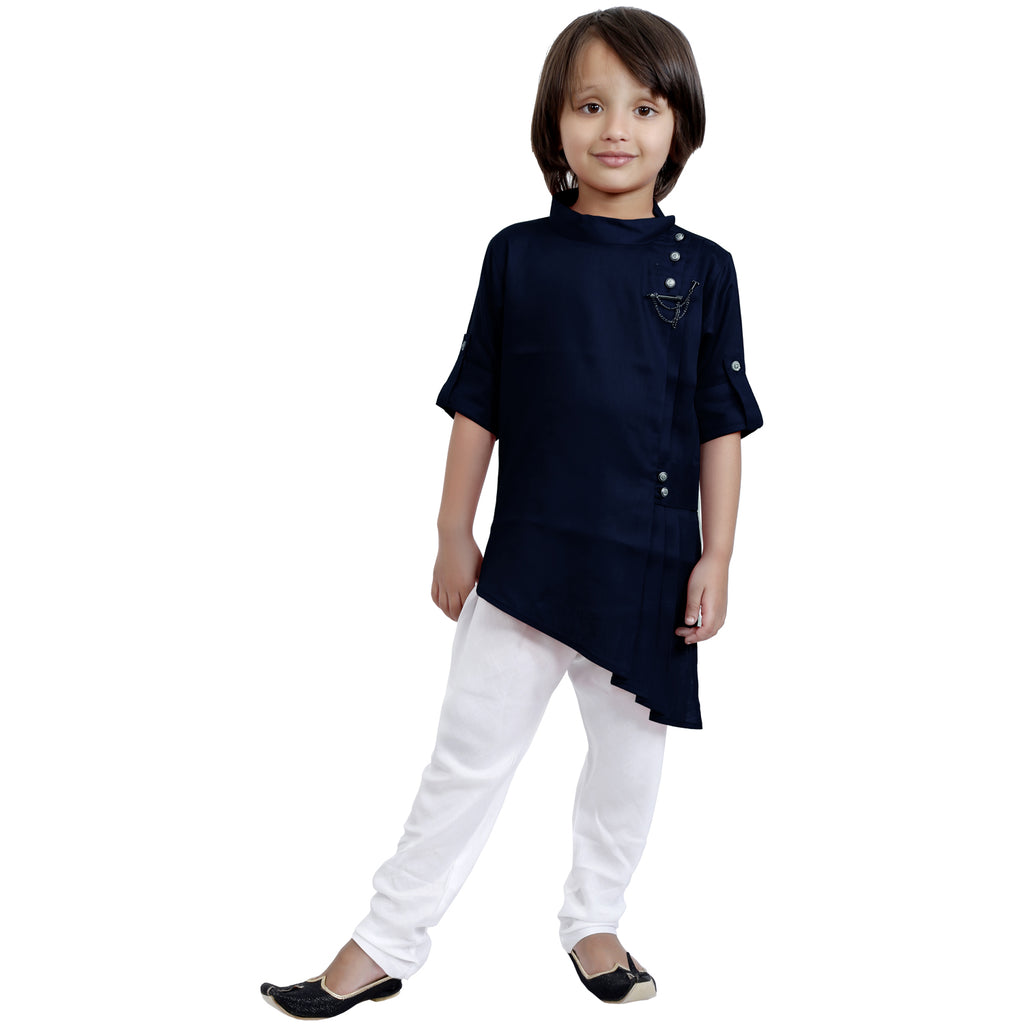 Bad Boys Stylish Traditional wear Outfit with Kurta and Cotton Bottoms - mashup boys