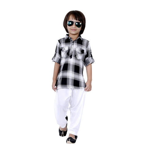 Bad boys plaid Kurta salwar set. - mashup boys