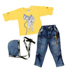 Bad Boys Red Denim Dungaree set - mashup boys
