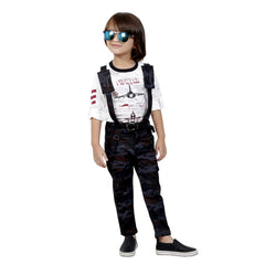 Bad Boys Stylish and Casual Outfit with T-shirt and Dungaree - mashup boys