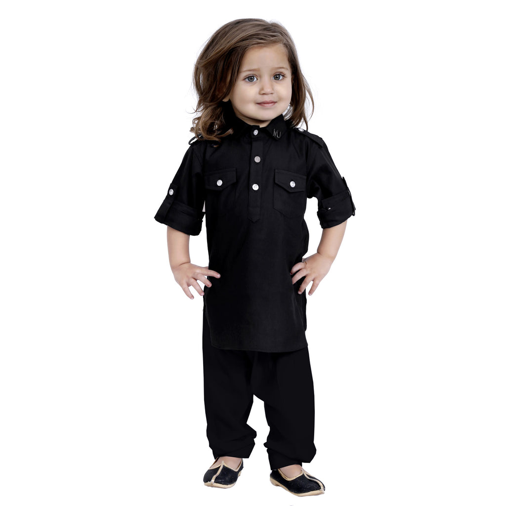 Bad boys plaid Kurta salwar set.