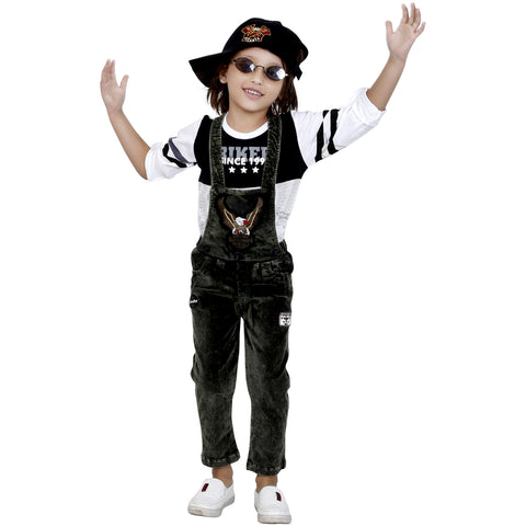 Bad Boys Stylish and Casual Outfit with T-shirt and Dungaree