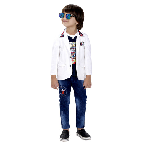 Bad Boys cotton blazer set. - mashup boys