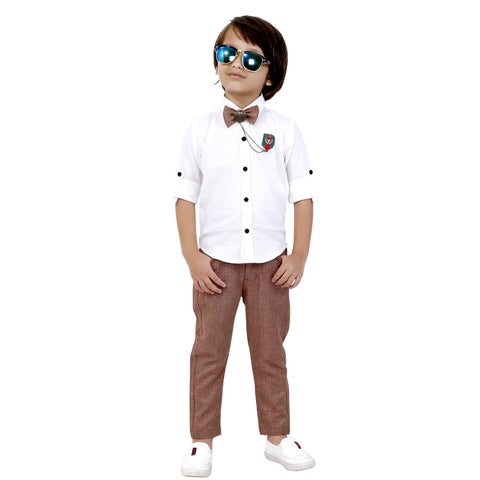 Bad Boys Stylish and Comfortable Outfit with Cotton Shirt and Cotton Bottoms - MASHUP