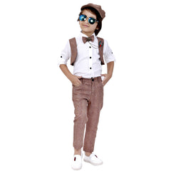 Bad Boys Stylish and Comfortable Outfit with Cotton Shirt and Cotton Bottoms - mashup boys