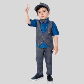 BAD BOYS ELEGANT AND COMFORTABLE OUTFIT WITH SHIRT, WAISTCOAT AND PANTS