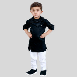 Super Stylish and Comfortable Ethnic Wear Set with Kurta with Detachable Cowl Neck Bottoms