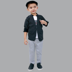 BAD BOYS FASHIONABLE COTTON LYCRA STRETCH JACKET SET
