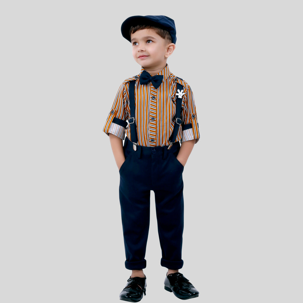 BAD BOYS Stylish and Casual Outfit with Cotton Shirt and Cotton Bottoms